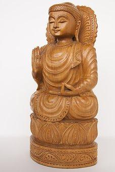Art, Asia, Buddha, Smiling, Sculpture, Fig, Deity