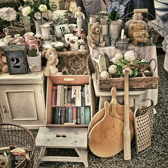 Flea Market, Stand, Market, Antiques, Business, Silver