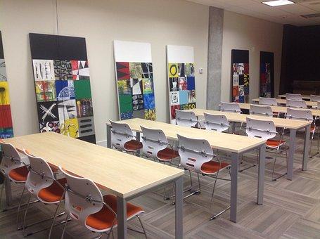 Training Room, Business, Desk, School, Teaching