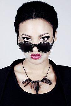 Glasses, Sunglasses, Fashion, Female, Necklace, Model
