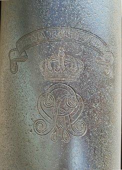 Relief, Cannon, Schlossgarten, Saarbrucken, Germany