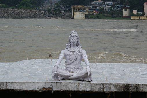 Shiva, Statue, Lord, God, Meditating, Posture, Hinduism