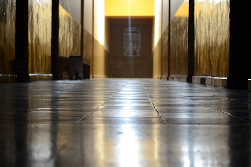 Hall, Fear, Hotel Lobby, Vanishing Point, Floor