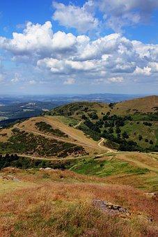 Malvern, Hills, Landscape, Sky, England, Uk, Rural