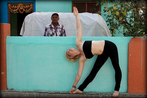 Trikonasana, Triangle, Yoga, Ashtanga, India, Fitness