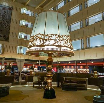 Kyoto Century Hotel, Japan, Lobby, Large Lamp, Landmark