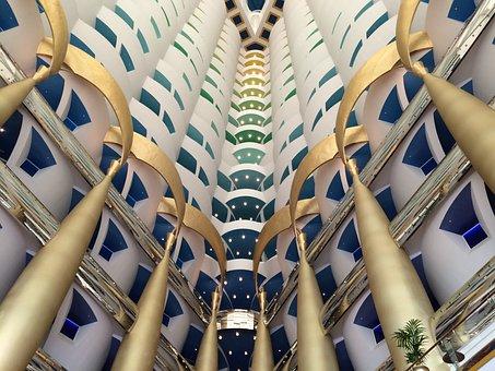 Burj Al Arab, Hotel, Dubai, Luxury, Lobby