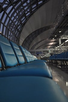 Airport, Waiting Area, Chairs, Seats, Travel, Lounge