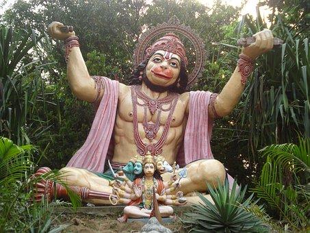 Hanuman, Hindu God, India, Religious, Meditation
