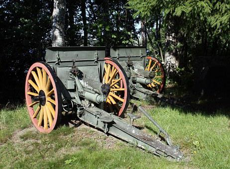 Artillery, Monument, Hintta, Oulu, Cannons, Finland