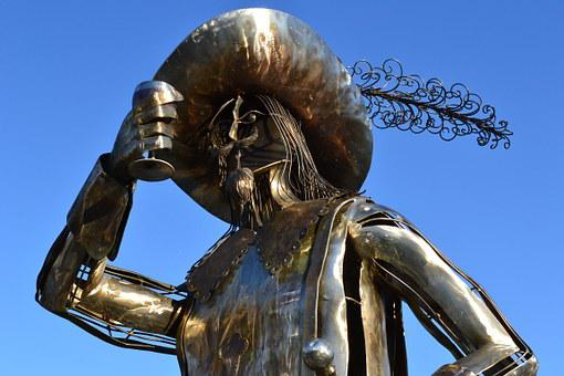 Porthos, Musketeer, Bust, Wine, Wine-bibber, Hat, Pen