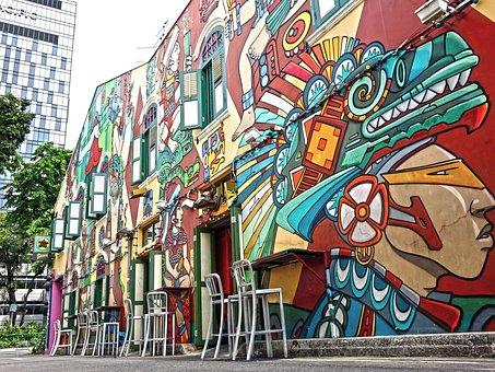 Singapore, Haji Lane, Graffiti, Street Art