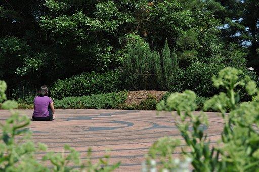 Contemplation, Woman, Meditation, Sun, Prayer