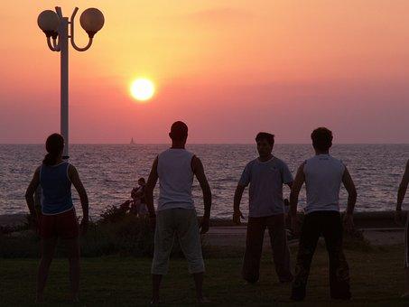 Beach, Sea, Sunset, Ocean, Water, Sky, Sun, Beautiful