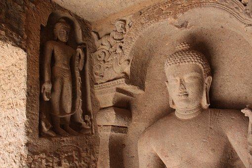 Spiritual, Buddha, Temple, Sculptures, Statue, Religion