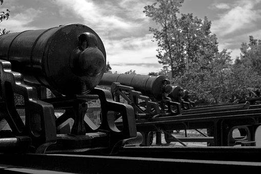 Canons, Quebec, War, Artillery, Canon, Cannon, Defense