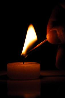 Candlelight, Candle, Flame, Fingers, Light, Can, Wax