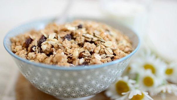 Muesli, Cereals, Cereal Bowl, Breakfast