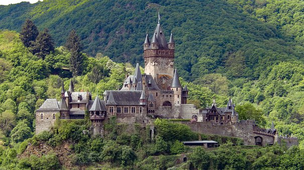Mosel, Cochem, Imperial Castle, Sachsen, Middle Ages