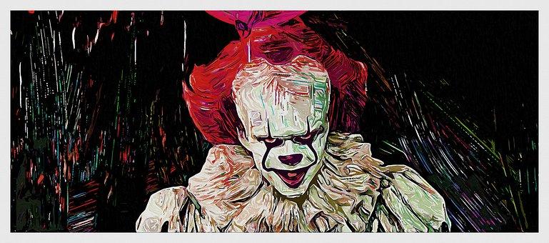 Clown, Evil, Terror, Horror, Fear, Fright, Scary