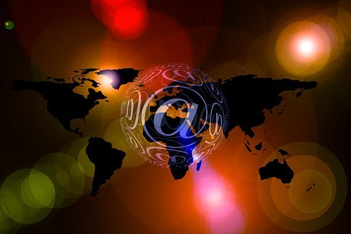 Continents, Email, Bokeh, Light, Reflex, Newsletter