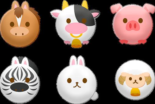 Animal Faces, Round, Sheep, Animal, Wildlife, Mammal