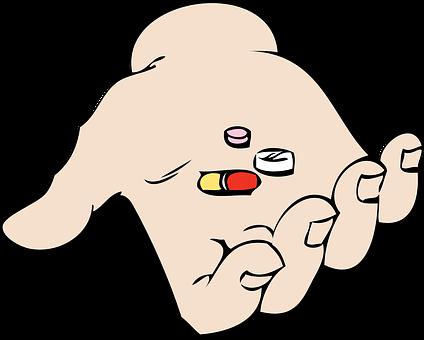Medication, Taking, Hand, Pills, Medicine