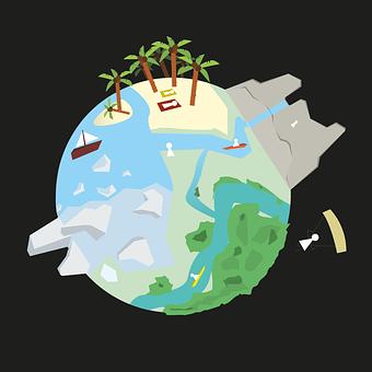 Planet, Design, Graphics, Activities, Flat Design