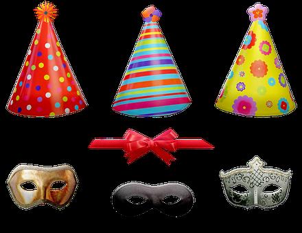 Birthday Items, Celebration, Hats, Horn