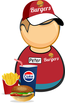 Burger, Coke, Cola, Comic Characters, Cup, Drink