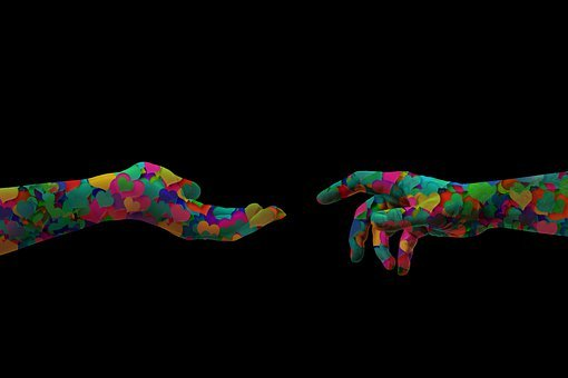 Hands, Contact, Heart, Touch, Finger, Close, Trust