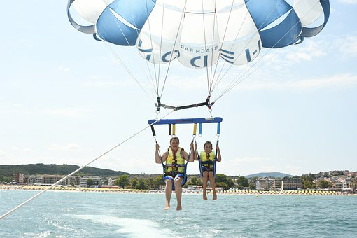 Parasailing, Vacation, Beach, Sport, Sky, Travel, Sea