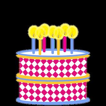 Clipart, Birthday, Cake, Colorful, Birthday Cake