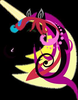 Unicorn, Horse, Cartoon, Design, Cute, Animal, Art