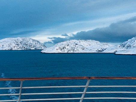 Artic Sea, Ship, Blue, Cruise, Sea, Water, Ocean, Sky