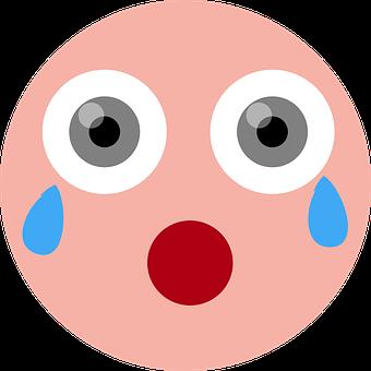 Crying, Shocked, Emoticon, Emoji, Crying Emoji