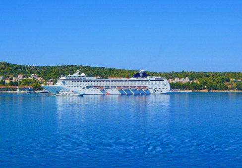 Cruising At Greek Islands, Greek Islands, Blue Water