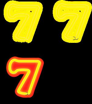 Seven, Number, 7, Phosphoric, Numerals