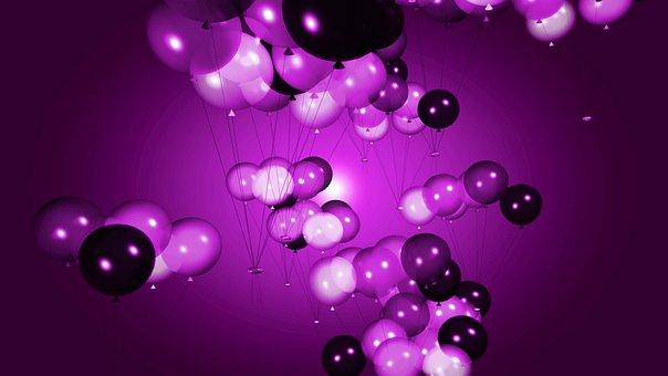 Balloons, Party, Balloon, Pink, Kids, Birthday, Happy