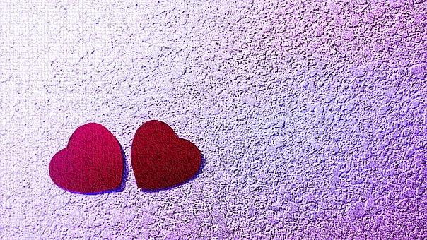 Heart, Red, Purple, Love, Valentines Day, Romance