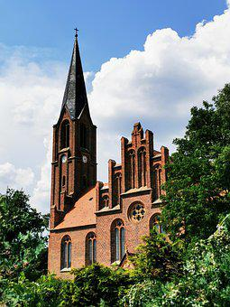 Neu-zauche, Village Church, Spreewald, Neogothic