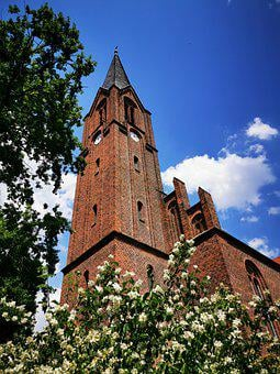 Neu-zauche, Village Church, Tower, Spreewald, Neogothic