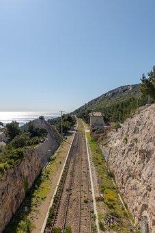 Train, Rail, Côte D'azur, Sun, Transport, Rails, Travel