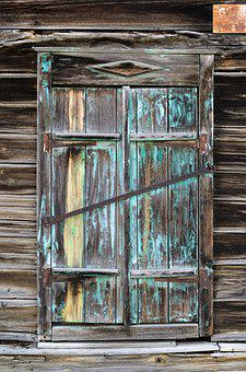 Buildings, Woods, Old, Window, Shutter, Backgrounds