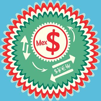 Mexican Peso, Mexico Mxn, Badge, Dollar Sign
