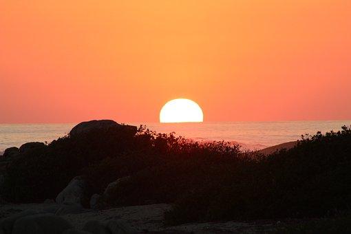 Sun, Afternoon, Sunset, Horizon, Beach, Evening, Sea