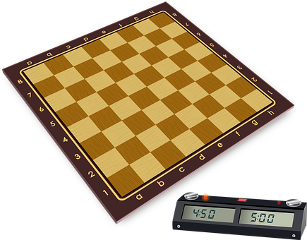 Chess, Wooden Board, Clock, Timer, Game Of Table, Sport