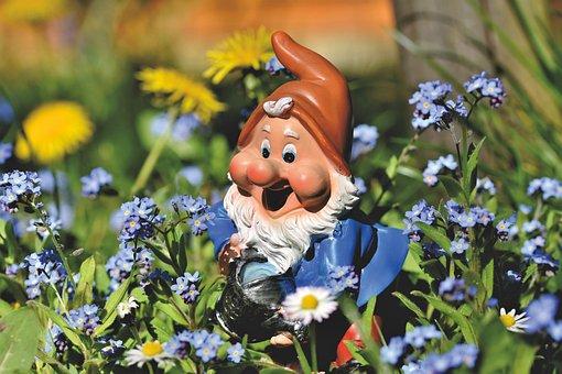 Garden Gnome, Dwarf, Figure, Gartendeko, Fabric, Imp