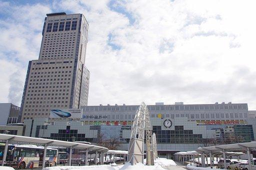 Japan, Hokkaido, Sapporo, Train, Tourism, Building