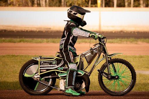 Speedway, Motorcycle, Motorcyclist, Racing, Motorsport